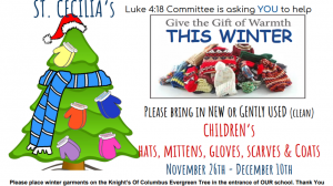Luke 4.18 – Winter Garment Drive